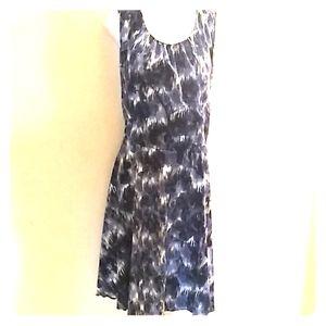Silk Feel A Line Dress